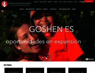 goshenschools.org screenshot