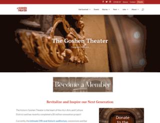 goshentheater.com screenshot