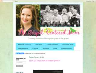 gospelcenteredmom.blogspot.com screenshot