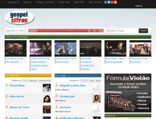 gospelcifras.com screenshot