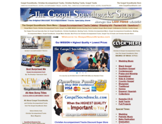 gospelsoundtracks.com screenshot