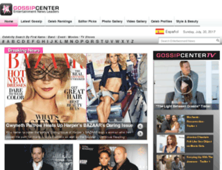 gossipcenter.com screenshot