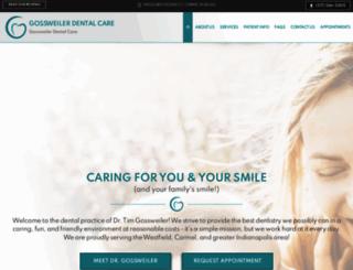 gossweilerdentalcare.com screenshot