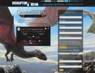 gota.disruptorbeam.com screenshot