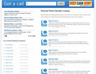 gotacall.org screenshot