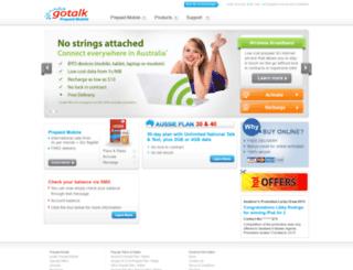 gotalk.com.au screenshot