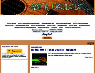 gotaukulele.com screenshot