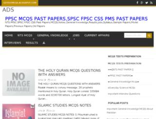 gotestmcqs.blogspot.com screenshot