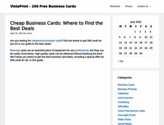 gotfreebusinesscards.com screenshot