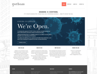 gotham.com.au screenshot