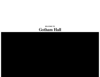 gothamhallevents.com screenshot