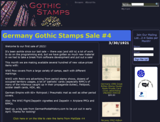 gothicstamps.com screenshot
