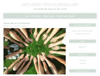 gotlandsfagelhundsklubb.se screenshot