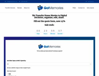 gotmemories.com screenshot