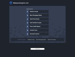 goto.mybeyondorganic.com screenshot