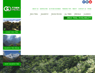 gotrekperu.com screenshot