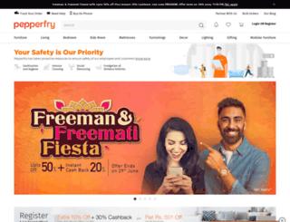 gotry.pepperfry.com screenshot