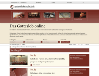 gotteslob.katholisch.de screenshot