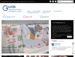 gouldsonline.co.uk screenshot