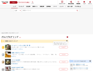 gourmet.blogmura.com screenshot