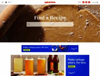 gourmet.com screenshot
