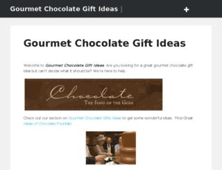 gourmetchocolategiftideas.com screenshot