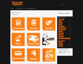 gourmetexpress.com.sv screenshot