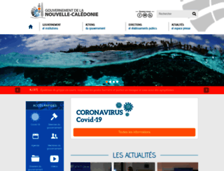 gouv.nc screenshot