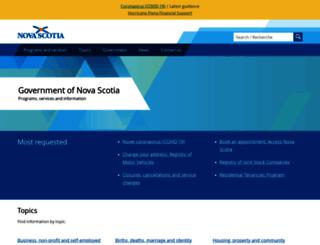 gov.ns.ca screenshot