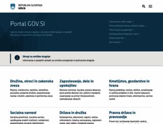 gov.si screenshot