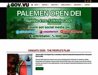 gov.vu screenshot