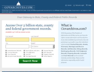 govarchives.com screenshot