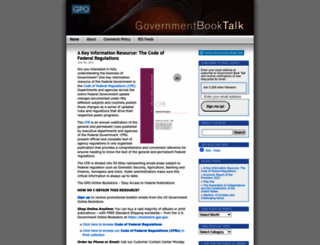 govbooktalk.gpo.gov screenshot