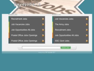 govejobs.in screenshot