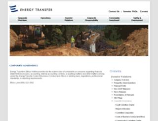 governance.energytransfer.com screenshot