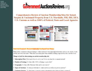 governmentauctionsreview.org screenshot