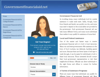 governmentfinancialaid.net screenshot