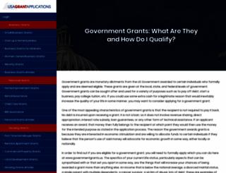 governmentgrants.us screenshot