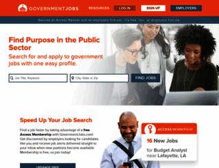 governmentjobs.com screenshot