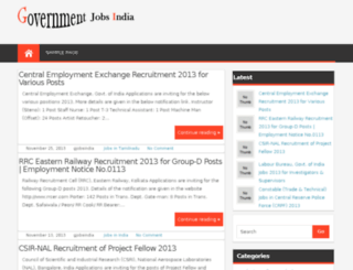 governmentjobsindia.info screenshot