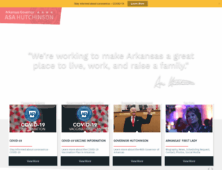 governor.arkansas.gov screenshot