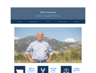 governor.mt.gov screenshot