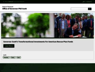 governor.vermont.gov screenshot