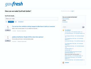 govfresh.uservoice.com screenshot
