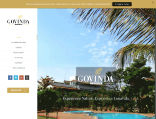 govindaresorts.com screenshot