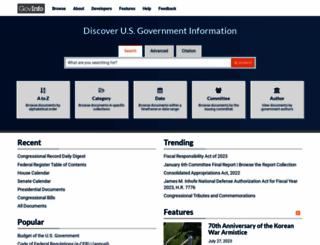 govinfo.gov screenshot