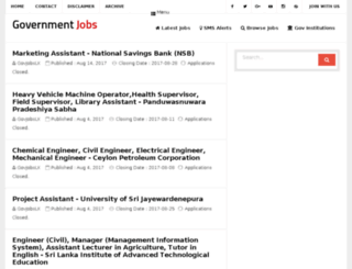 govjobslk.com screenshot