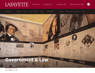 govlaw.lafayette.edu screenshot