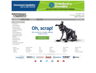 govliquidation.com screenshot