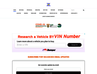 govpage.co.za screenshot